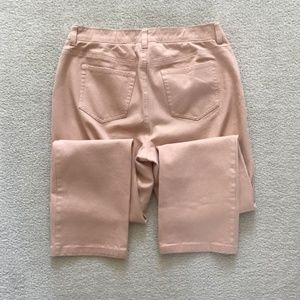 CHICOS SIZE 1 REGULAR PEACH COLORED PANTS